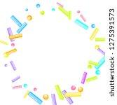 sprinkles grainy. sweet... | Shutterstock .eps vector #1275391573