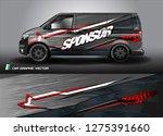 cargo van graphic vector.... | Shutterstock .eps vector #1275391660