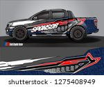 truck wrap design vector....   Shutterstock .eps vector #1275408949