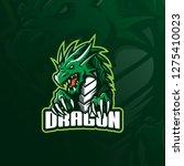 dragon mascot logo design... | Shutterstock .eps vector #1275410023
