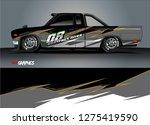 car wrap design vector  truck... | Shutterstock .eps vector #1275419590