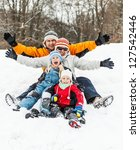 happy family having fun in the... | Shutterstock . vector #127542446
