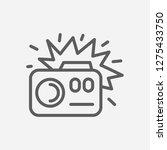 camera flash light icon line...