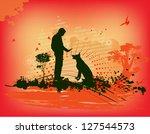 dog training | Shutterstock .eps vector #127544573