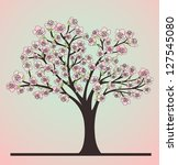 cherry tree with blossoms | Shutterstock .eps vector #127545080