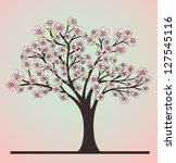 cherry tree with blossoms | Shutterstock . vector #127545116