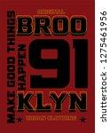 brooklyn make good things... | Shutterstock .eps vector #1275461956