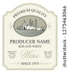 vector label for red and white... | Shutterstock .eps vector #1275463066