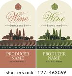 set of vector labels for red... | Shutterstock .eps vector #1275463069