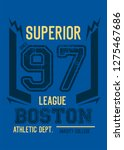 boston superior league t shirt... | Shutterstock .eps vector #1275467686