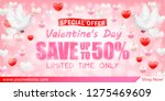 valentines day shopping sale... | Shutterstock .eps vector #1275469609