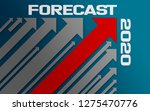 forecast 2020 concept with red... | Shutterstock . vector #1275470776
