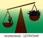 social disparity  the wealthy... | Shutterstock .eps vector #127547669