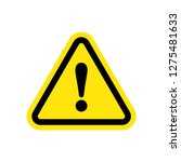 caution warning sign sticker.... | Shutterstock .eps vector #1275481633