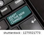 Text Sign Showing Adapt To The...