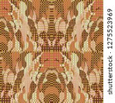 quirky tapestry pattern.... | Shutterstock .eps vector #1275523969