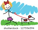 a simple colorful childlike... | Shutterstock .eps vector #127556594