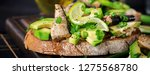 sandwich   smorrebrod with... | Shutterstock . vector #1275568780