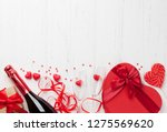 valentine's day greeting card... | Shutterstock . vector #1275569620