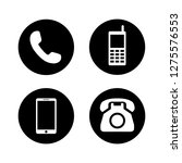 telephone icons set symbol... | Shutterstock .eps vector #1275576553
