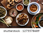 tradition northern thai food.... | Shutterstock . vector #1275578689