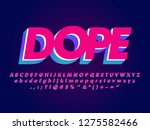 dope sticker text effect ... | Shutterstock .eps vector #1275582466
