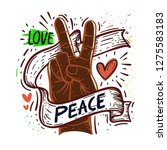 sign of peace | Shutterstock .eps vector #1275583183