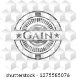 gain grey badge with geometric... | Shutterstock .eps vector #1275585076