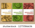coffee illustration on label... | Shutterstock .eps vector #1275586636