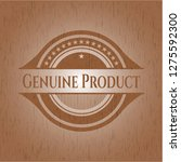 genuine product retro style... | Shutterstock .eps vector #1275592300