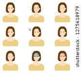 face expressions of a young... | Shutterstock .eps vector #1275618979