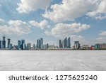 empty marble floors and city... | Shutterstock . vector #1275625240