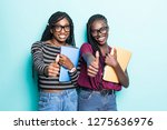 portrait of two african young...   Shutterstock . vector #1275636976