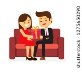 happy valentine day man and...   Shutterstock .eps vector #1275650290