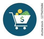 shopping cart icon   shopping... | Shutterstock .eps vector #1275653686