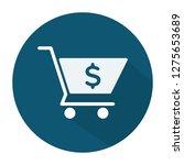 shopping cart icon   shopping... | Shutterstock .eps vector #1275653689