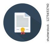 graduation certificate diploma  ... | Shutterstock .eps vector #1275653740