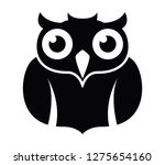 vector owl icon isolated on... | Shutterstock .eps vector #1275654160
