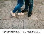 closeup photo of woman and man... | Shutterstock . vector #1275659113