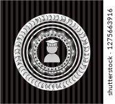 graduation icon inside silvery...   Shutterstock .eps vector #1275663916
