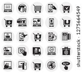 online shopping icons set on... | Shutterstock .eps vector #1275664549