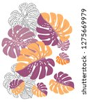 vector tropical pattern with... | Shutterstock .eps vector #1275669979