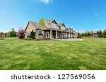 large farm country house with... | Shutterstock . vector #127569056