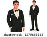 groom in standing position... | Shutterstock .eps vector #1275699163