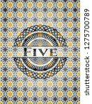 five arabesque badge. arabic... | Shutterstock .eps vector #1275700789