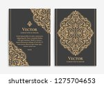 gold vintage greeting card on a ... | Shutterstock .eps vector #1275704653