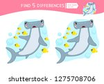 find differences.  educational... | Shutterstock .eps vector #1275708706