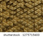 gold geometric triangle pattern ...   Shutterstock . vector #1275715603