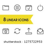 internet icons set with refresh ...