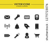 user icons set with create...